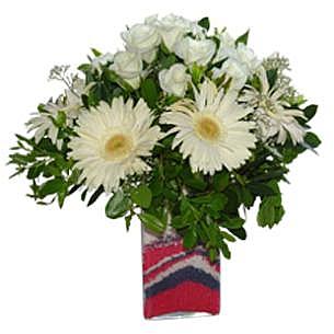 Beyaz Güller ve Gerberalar